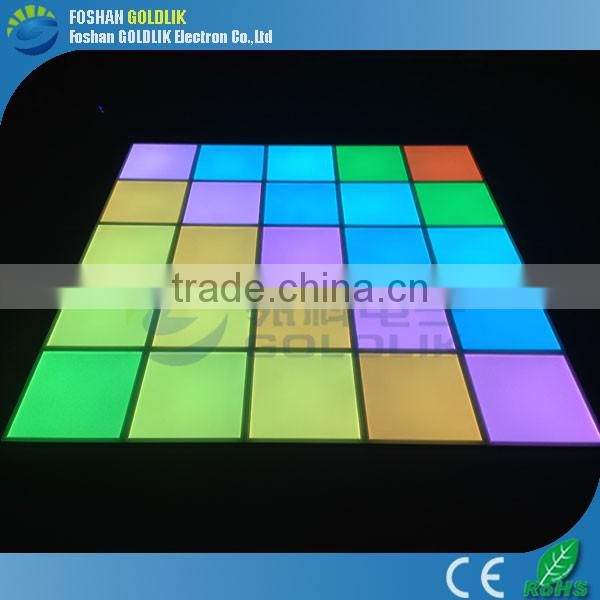 Wedding decorations light up video interactive starlit used 3D DJ led dance floor for sale
