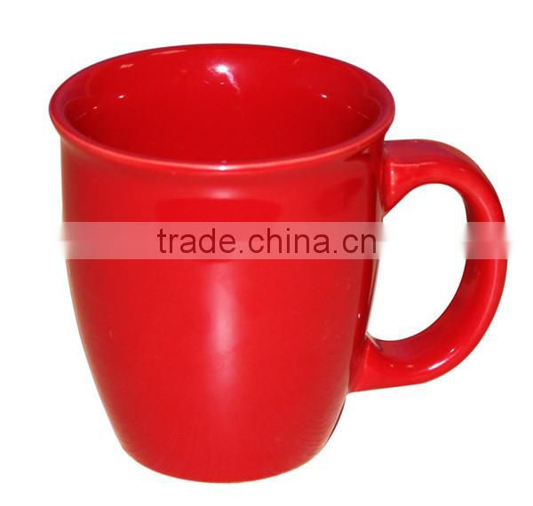 Aboral Ceramic Bullet Cup red nescafe coffee mug