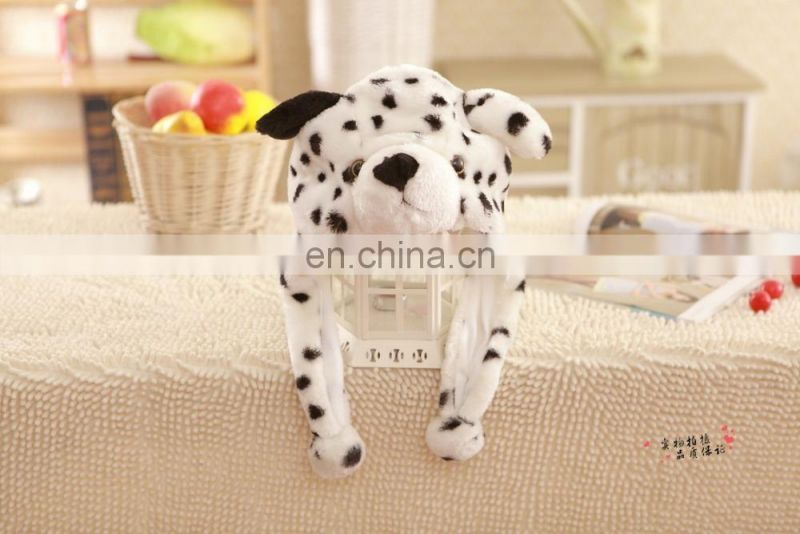 Lovely stuffed plush dog hat Custom plush animal head hat wholesale