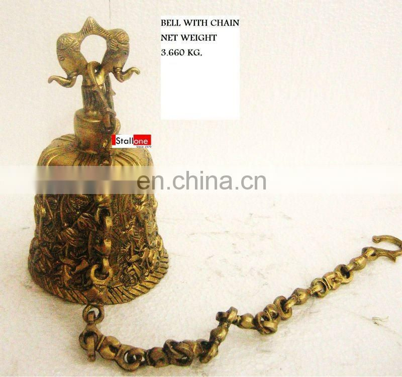 BRONZE BELL WITH CHAIN