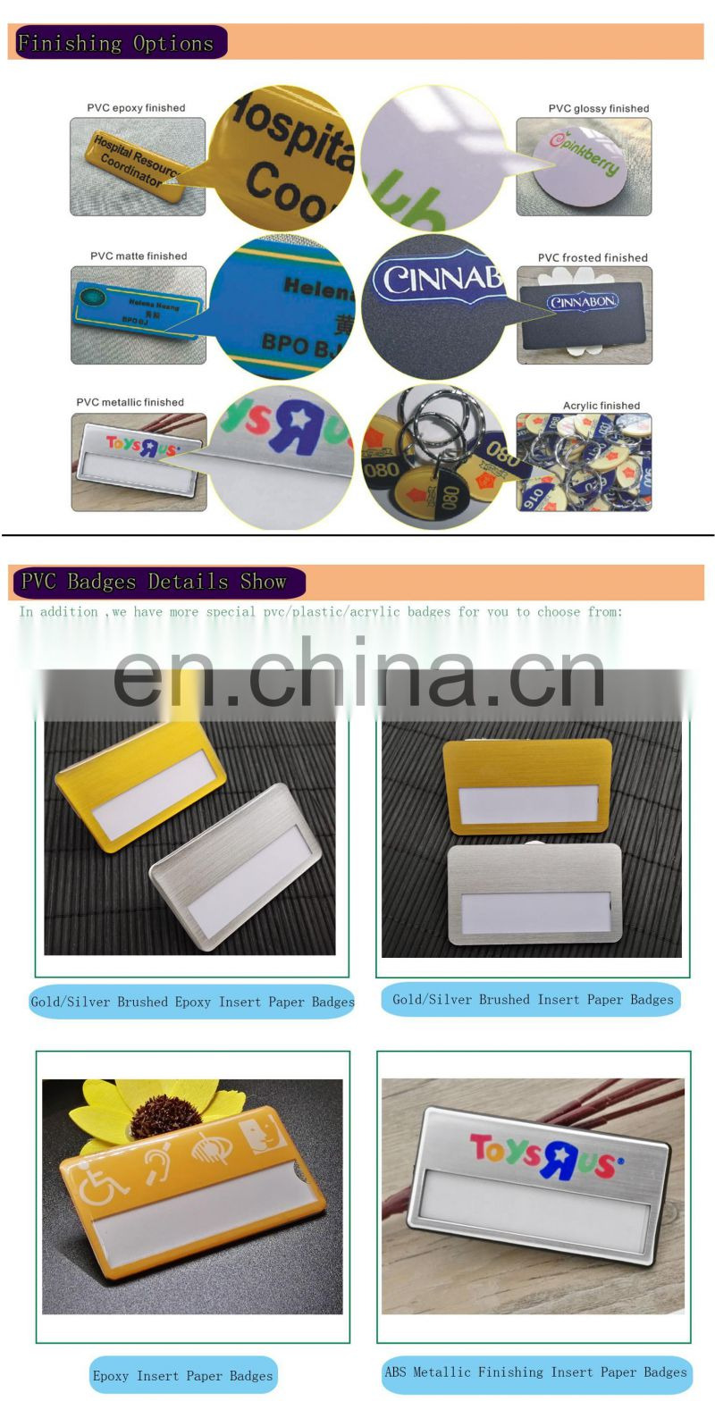 Hot Sale High Quality Cheap Price Pvc Badge Pin Manufacturer From China