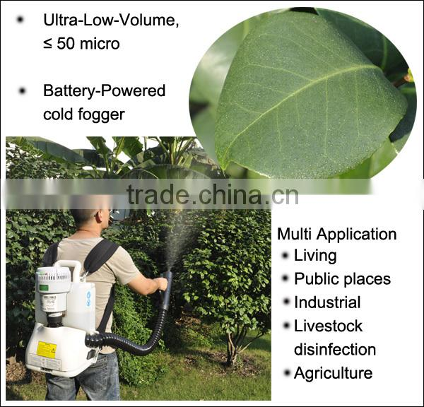 (24235) high quality agriculture knapsack cordless battery powered ulv crop cold fogger