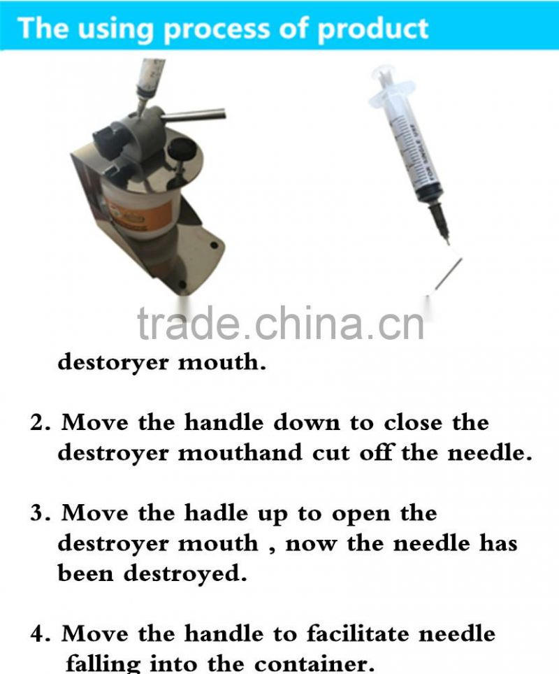 disposable syringe destroyer for medical