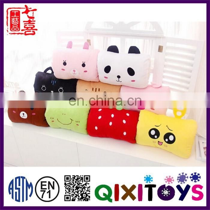 stuffed animal cushion hand warmer pillow kids for promotional gifts
