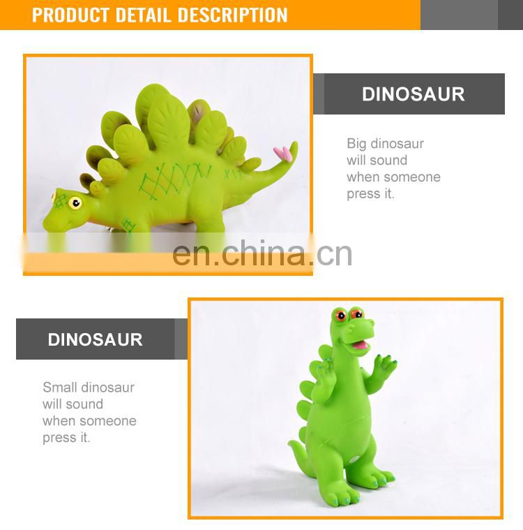 Lovely Design Rubber Cartoon Dinosaur Model For Sale