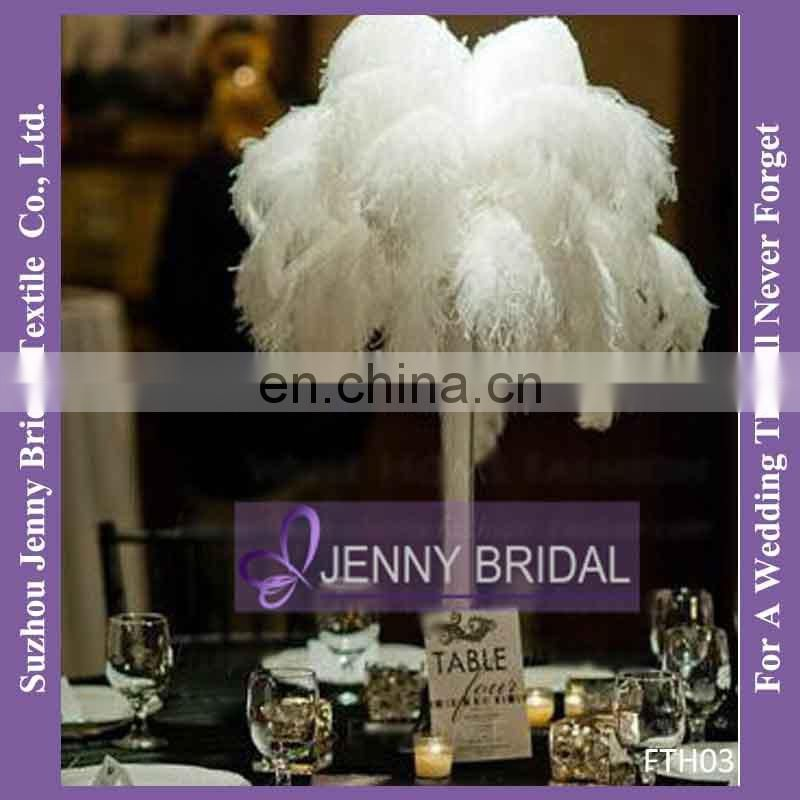 FTH03 Wedding Decor Centerpiece White Ostrich Feathers