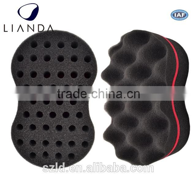 wave barber hair brush sponge,sponge for black hair,hair curling sponge