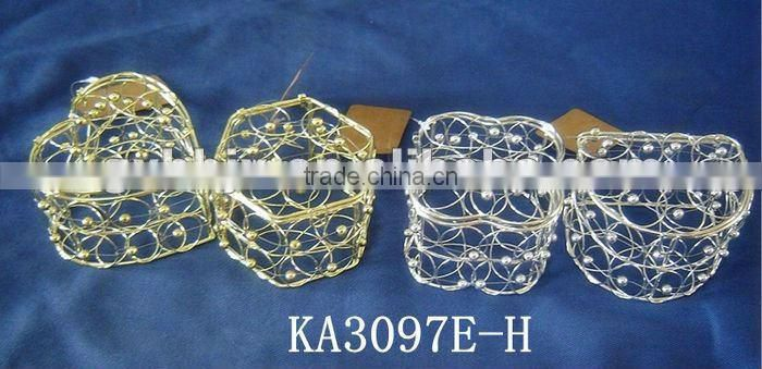 Kinds of metal gift packaging box with beads