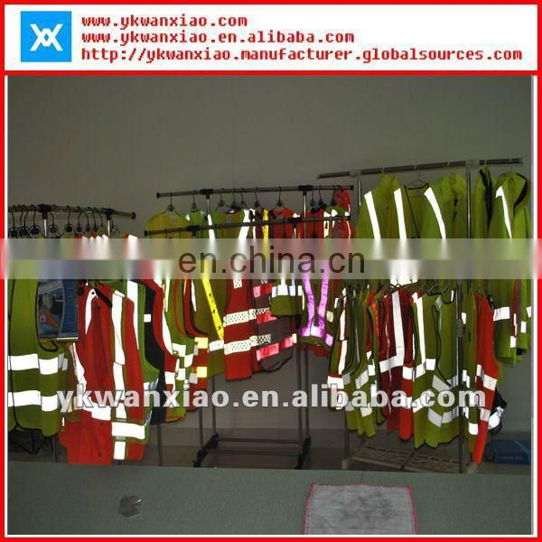 yellow safety reflective jacket with reverse sides,yellow reflective jacket with class3 tape, reflective jacket with non sleeve