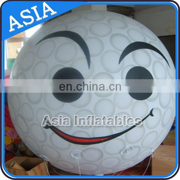 Low price hami-melon oval helium pvc balloon for advertising or show with logo