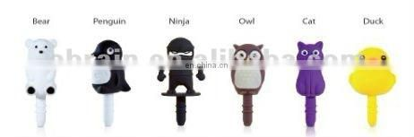 Environmental Chocolate Owl Earphone Jack Accessory for Dustpoof Plug