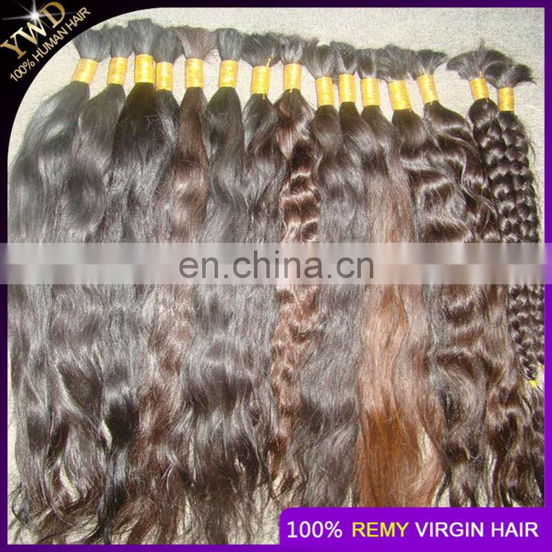 8A1KG Russian Virgin Hair Straight Human Hair Bulk No Weft Bulk For Braiding Peerless Virgin Hair Natural Brown Color