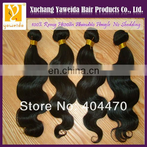 100% unprocessed bralizian human hair extension alibaba express