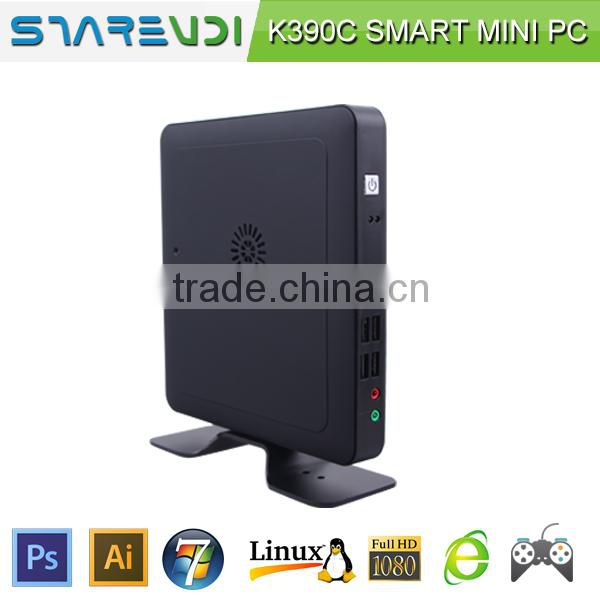 Celeron 1037U 1.86Ghz mini computer thin client pc K390C sharevdi plastic rubber oil shell low electric consumption