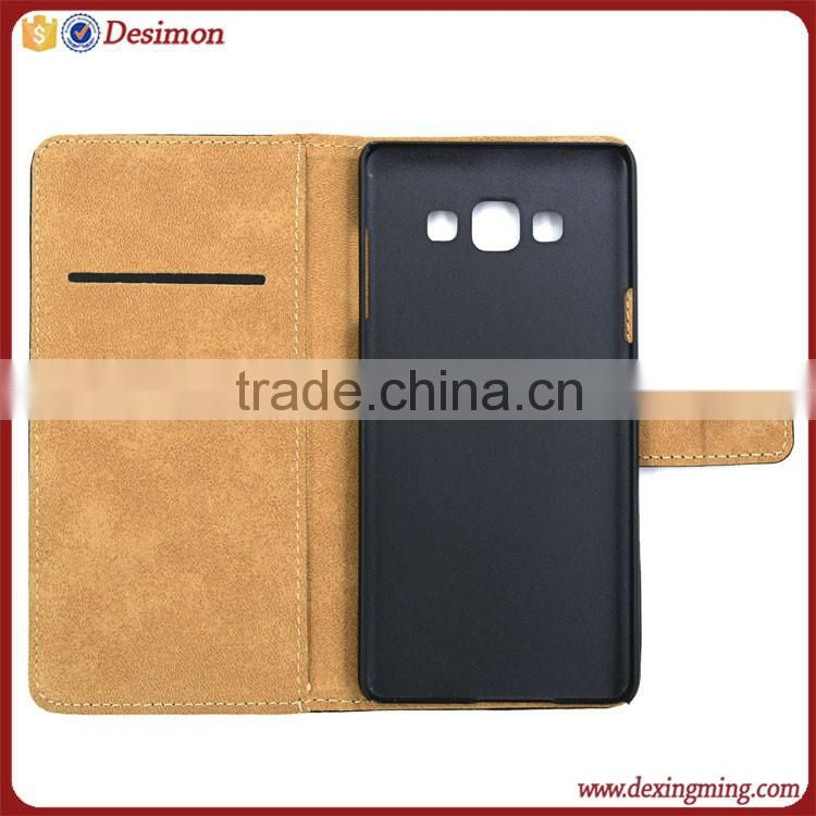 Paypal accept genunie leather flip cover case for samsung galaxy a7