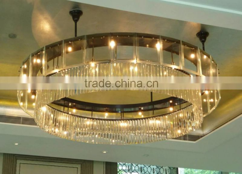 modern indoor flush mount crystal ceiling light fixture for dining room