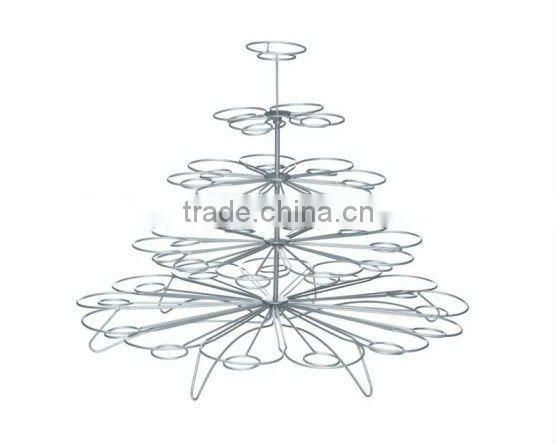 Hot sale Iron wire 5 tier cupcake stand