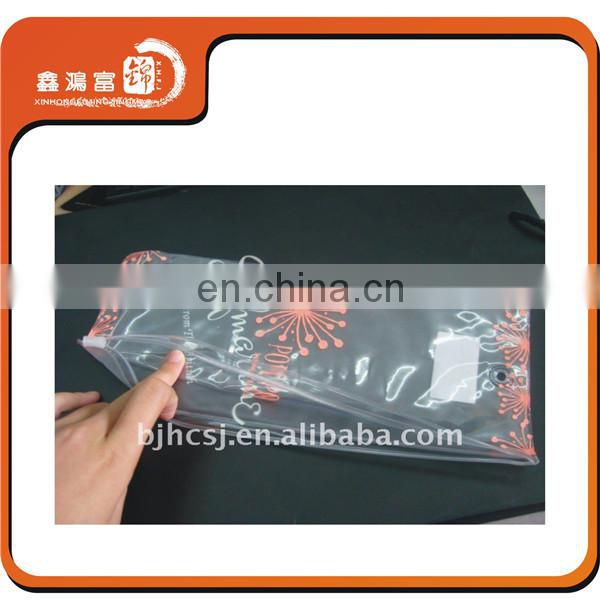 Customized logo garment package clear plastic zipper bag