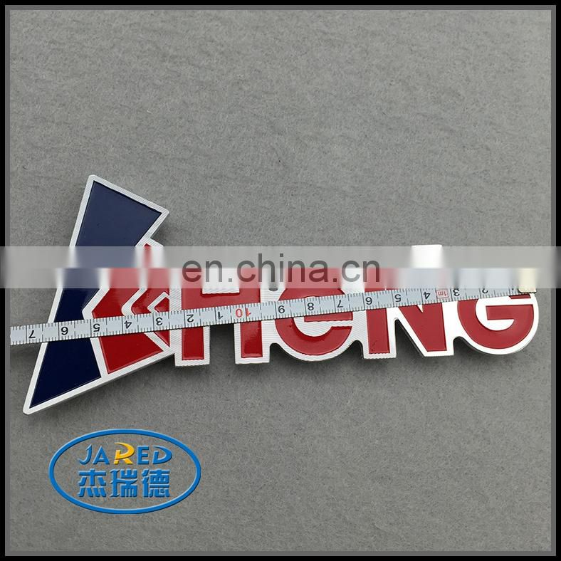 Fancy Car Decoration Custom Name Metal Painting and Brushed Engraved Aluminum Label