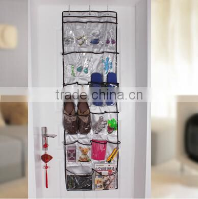 2014 Hot Sell Space Saving Non-woven pvc Plastic Wall Hanging Storage Pocket