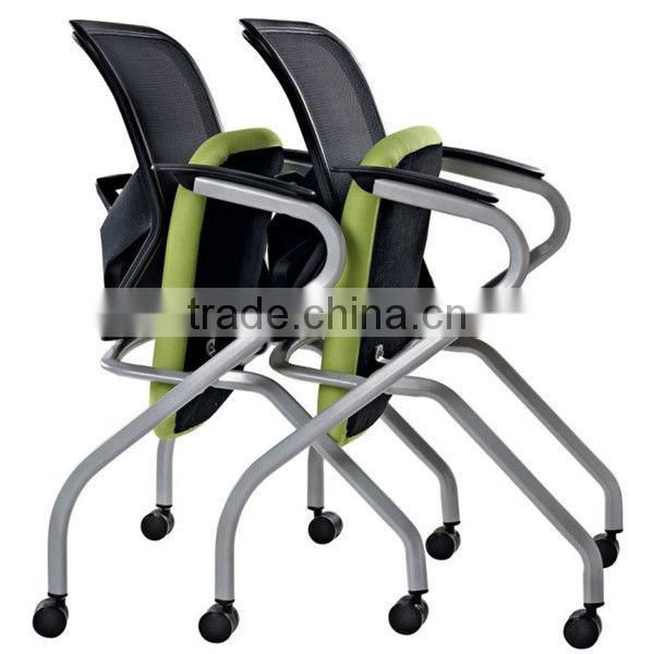 folding visitor chair folding chair mesh reception chair