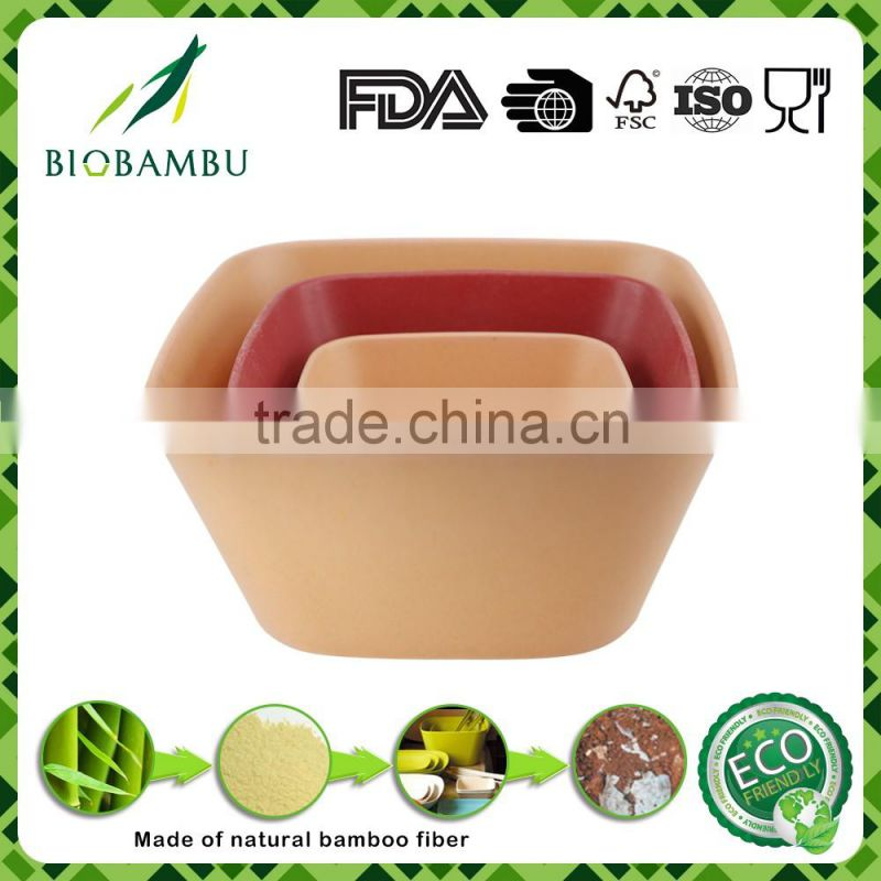 Eco Friendly Wholesale Bamboo Fiber Salad Bowl Colorful Dinnerware Sets