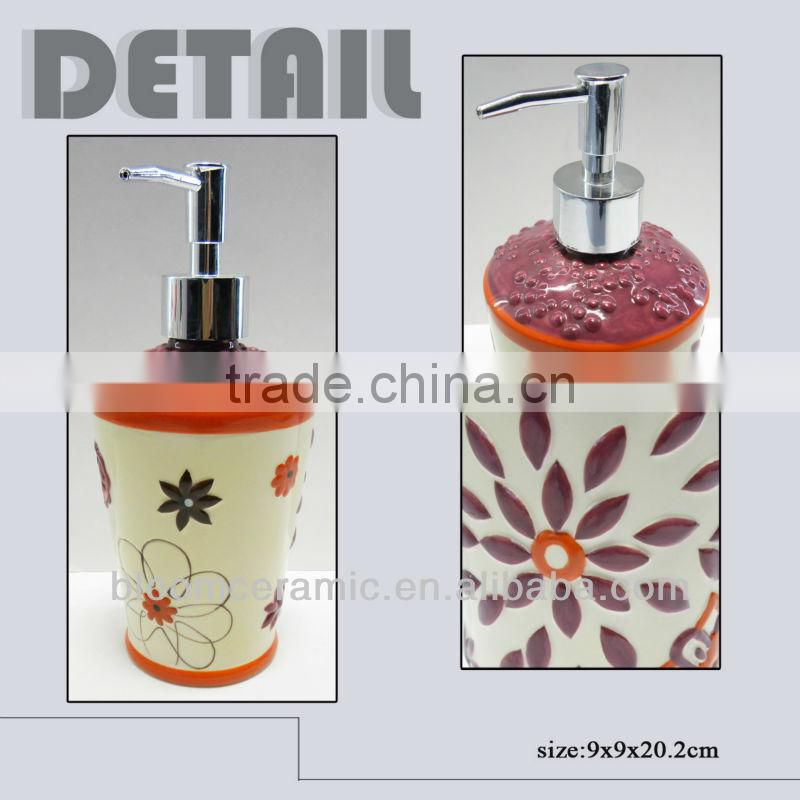 Decal ceramic body lotion bottle