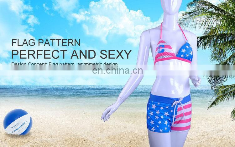 Customized LOGO Gorgeous Women Printed Thong Bikini