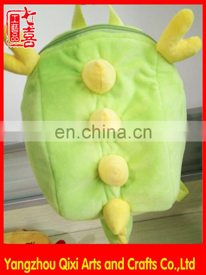 2016 hot sale drawstring backpack plush kids school bakcpack customized wholesale animal bakcpack bag