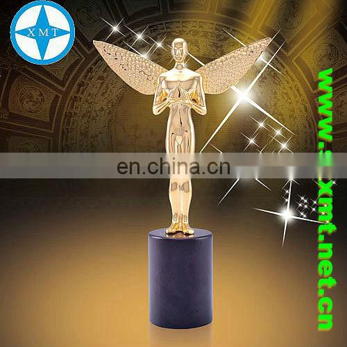 gold metal star dancing trophy