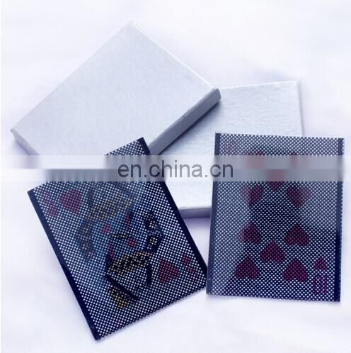New WOW Plastic Card Change illusion Sleeve Magic Trick(8.9x7cm)/magic toys/magic props/close up magic