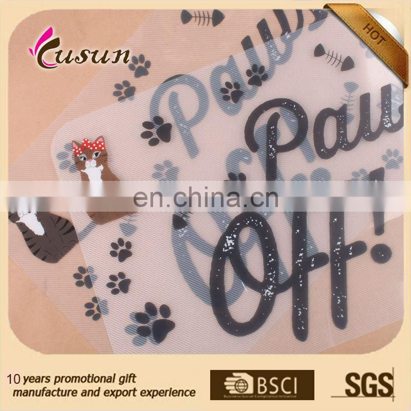 Promotional high quality hot sales pet cat or dog plastic feeding mat
