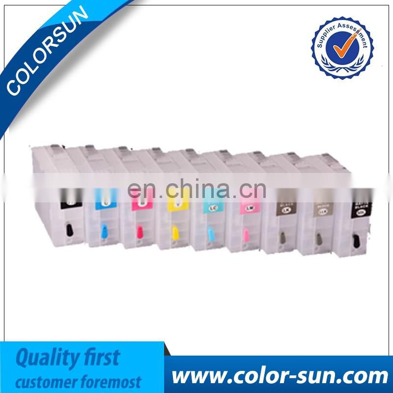 Empty P800 refillable ink cartridge(can be refilled 80ML each color) with chips