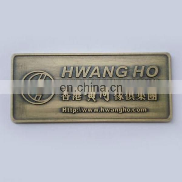 door bronze logo plate
