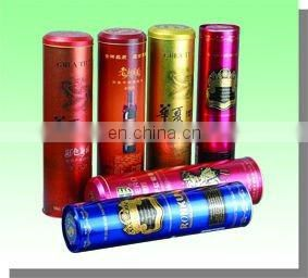 luxury nice individual bottle packing tinplate wine can wine box