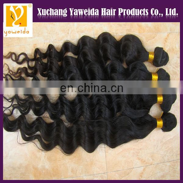 genuine raw unprocessed virgin 5A loose deep wave brazilian human hair extension