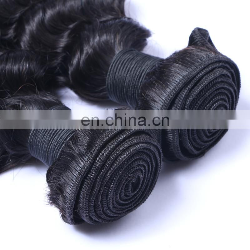 china.cn wholesale human hair weft deep wave color 1# machine sew raw peruvian hair