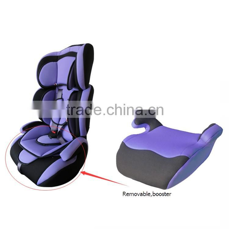 high quality isofix with knitted fabric pillow for cover pattern booster cushion children car seat