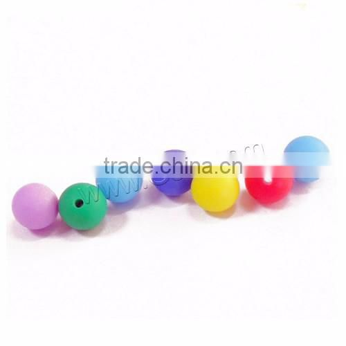FDA approval soft baby teething chewable food silicone bead bracelet