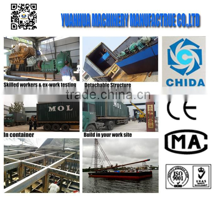 Large engineering ship for coastal construction diesel engine cutter suction dredger for sale