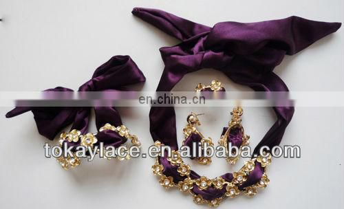 african jewelry set 18k gold plated