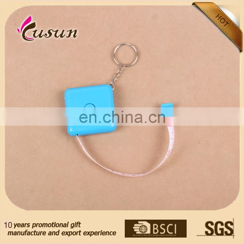 Promotional mini plastic measuring tape/personalized measuring tape keychain