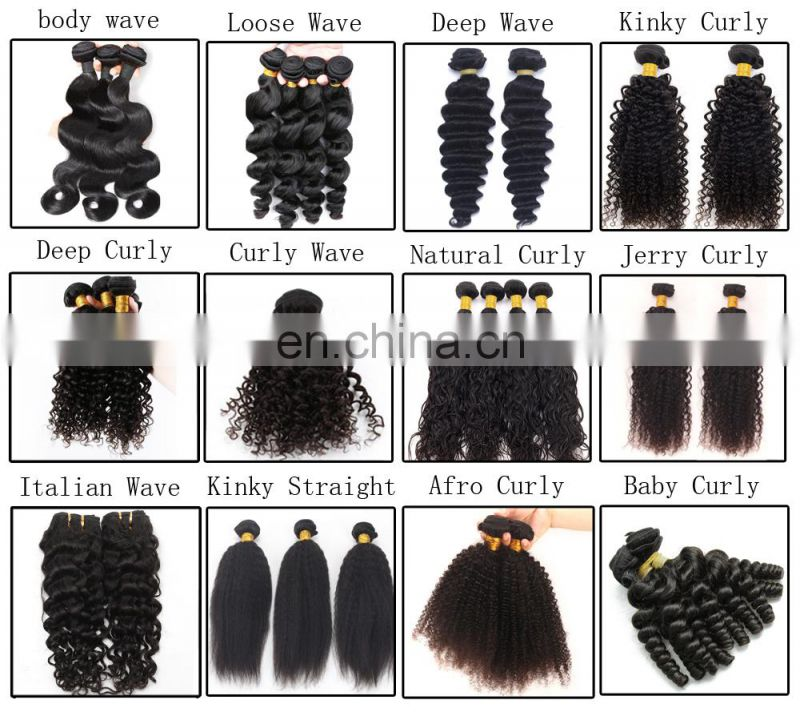 Human hair weave unprocessed brazilian hair