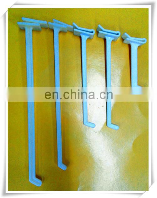 2014 display white plastic PP j hook