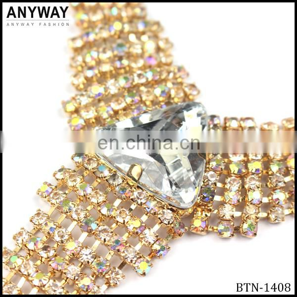 Gold rhinestone crystal accessory jewelry for bags shoes and decoration accessories