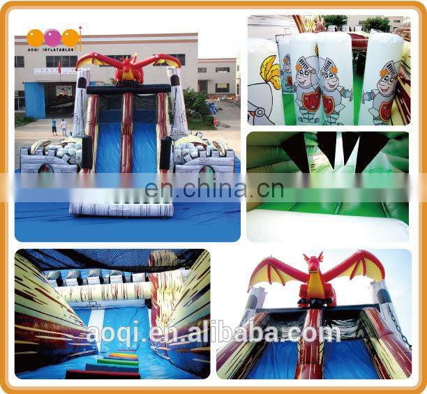 AOQI giant commercial dragon funcity /cheap inflatable fun city