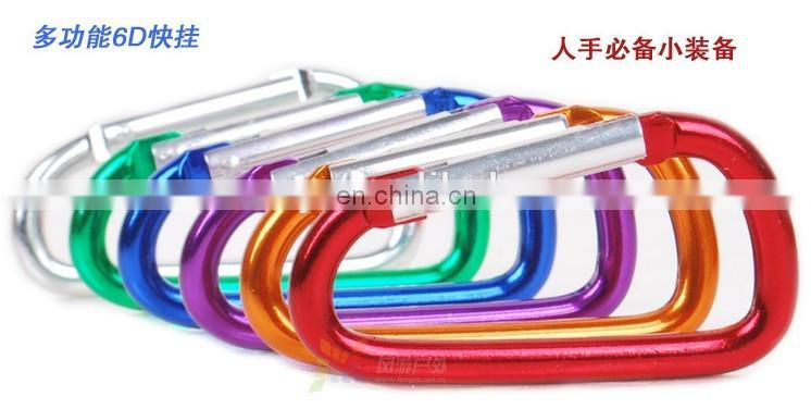 China Factory Wholesale Spring Snap Keychain Hook Carabiner Hooks