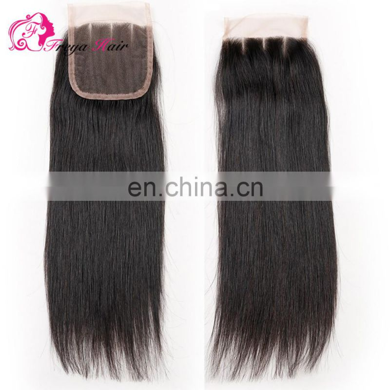 Brazilian hair free part middle part three parts cheap lace clousre