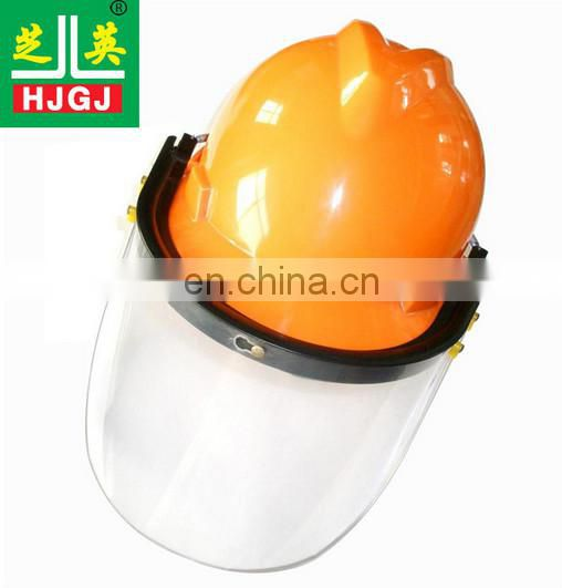 Aluminum foil protective mask of safety helmet