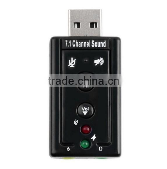 USB 2.0 to 3.5mm External 7.1 Channel sound / Sound Card Adapter / external Sound card